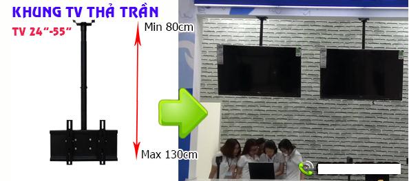 Lắp đặt khung treo tivi tại tân bình