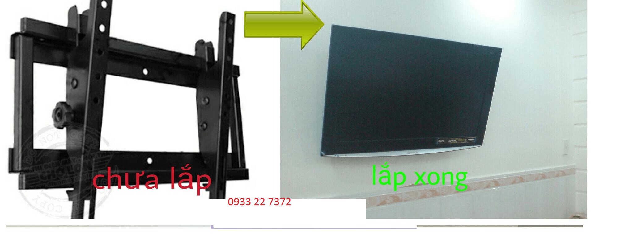 lắp đặt khung treo tivi tại bình chánh